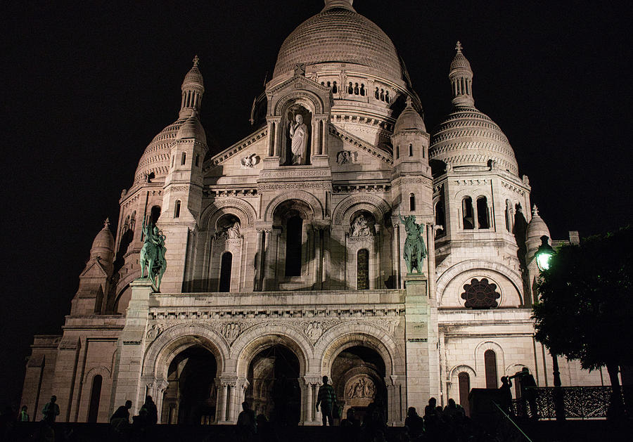 Sacre Couer at Night by Portia Olaughlin