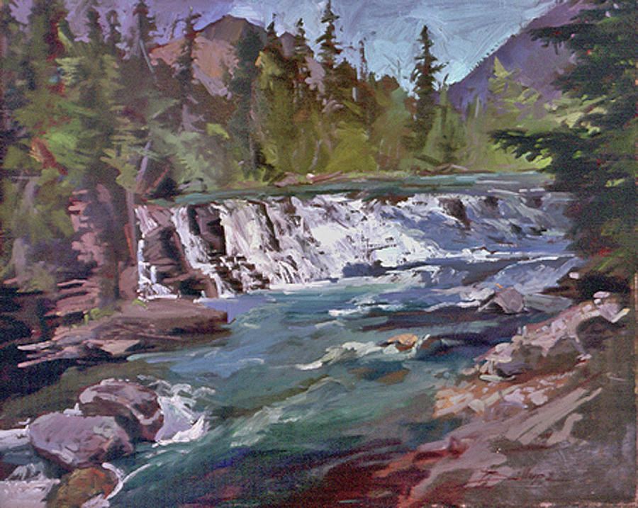 Water Falls Painting - Sacred Dancing  Glacier by Betty Jean Billups