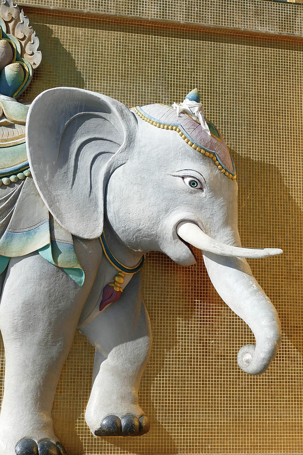 Sacred elephant on the plinth by Steve Estvanik