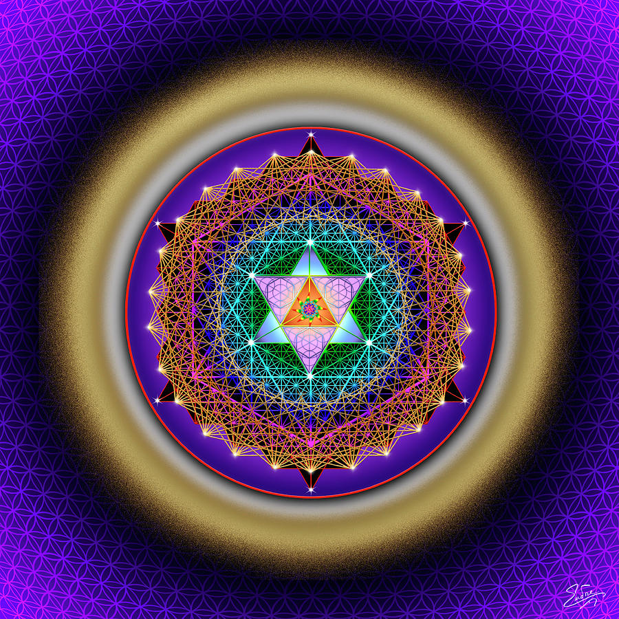 Sacred Geometry 784 by Endre Balogh