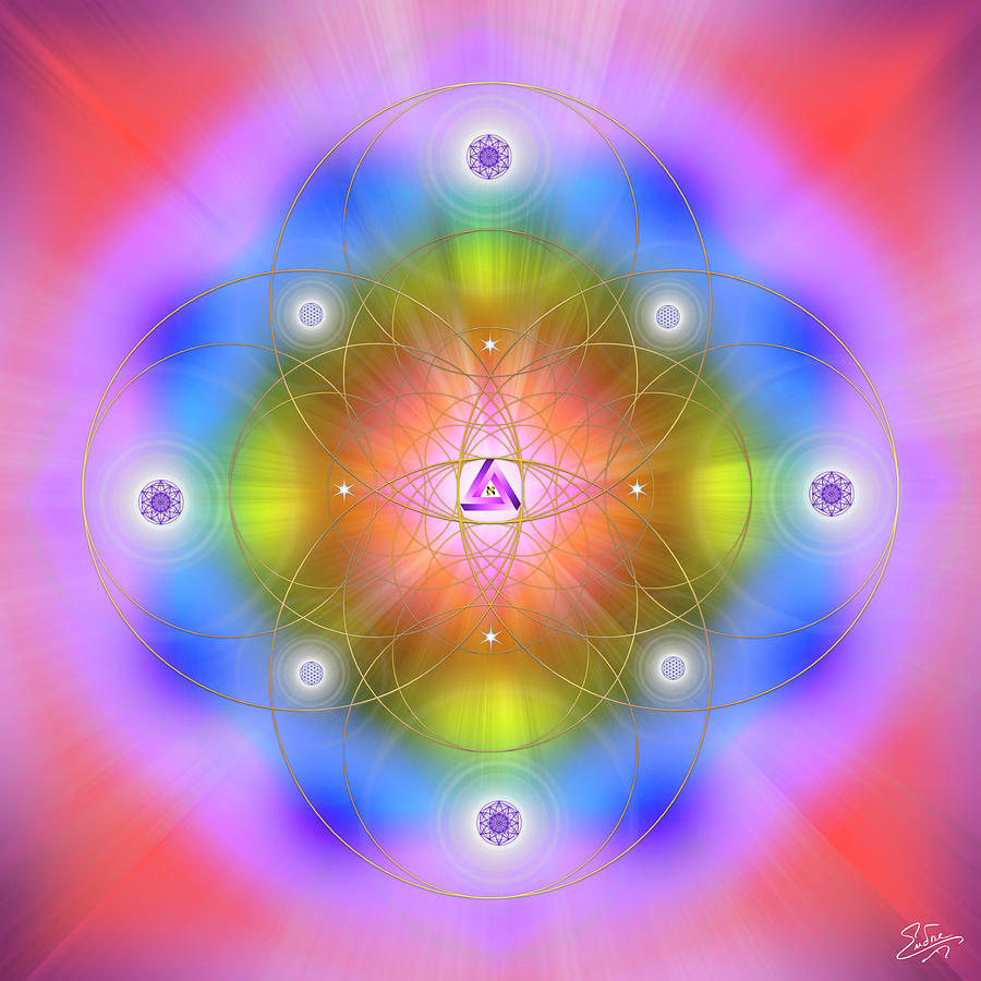Sacred Geometry 786 by Endre Balogh