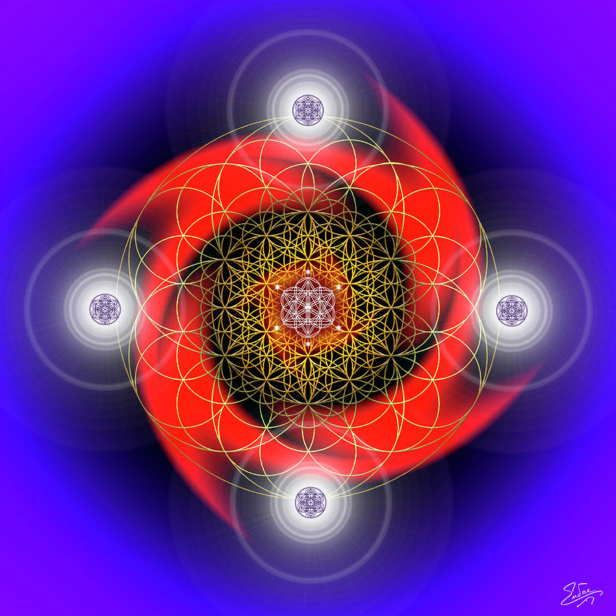 Sacred Geometry 794 by Endre Balogh