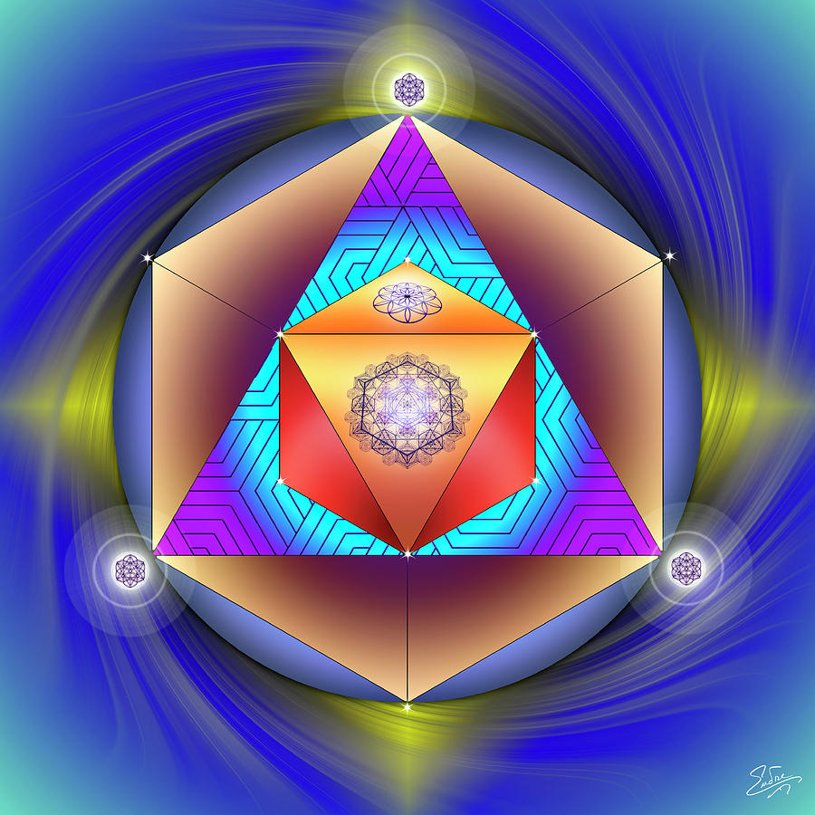 Sacred Geometry 796 by Endre Balogh