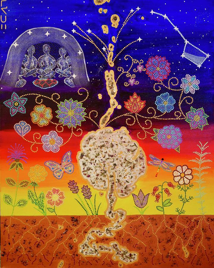 Culture Painting - Sacred Tree by Karlee Fellner