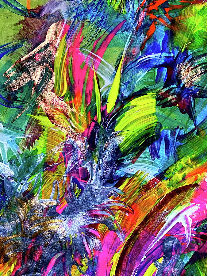Abstract Painting - Sacred Waters 2 by Steven Mana Trink