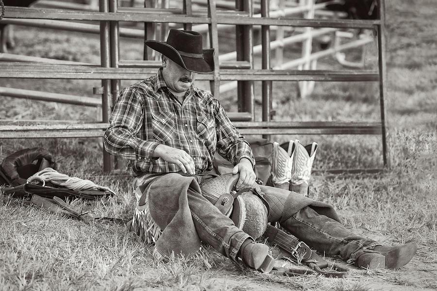 Saddle Bronc Cowboy Photograph