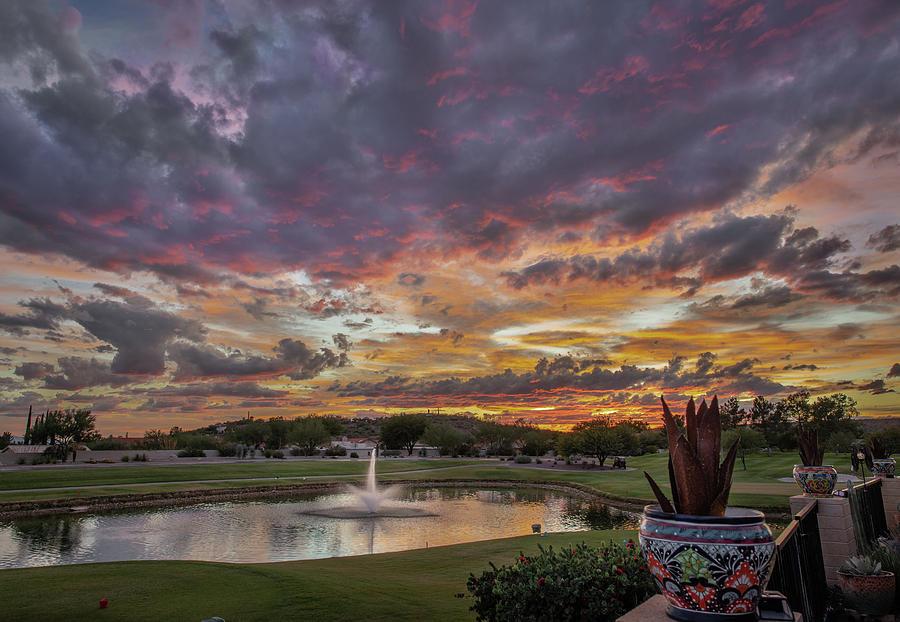 Saddlebrooke Sunset by Hershey Art Images