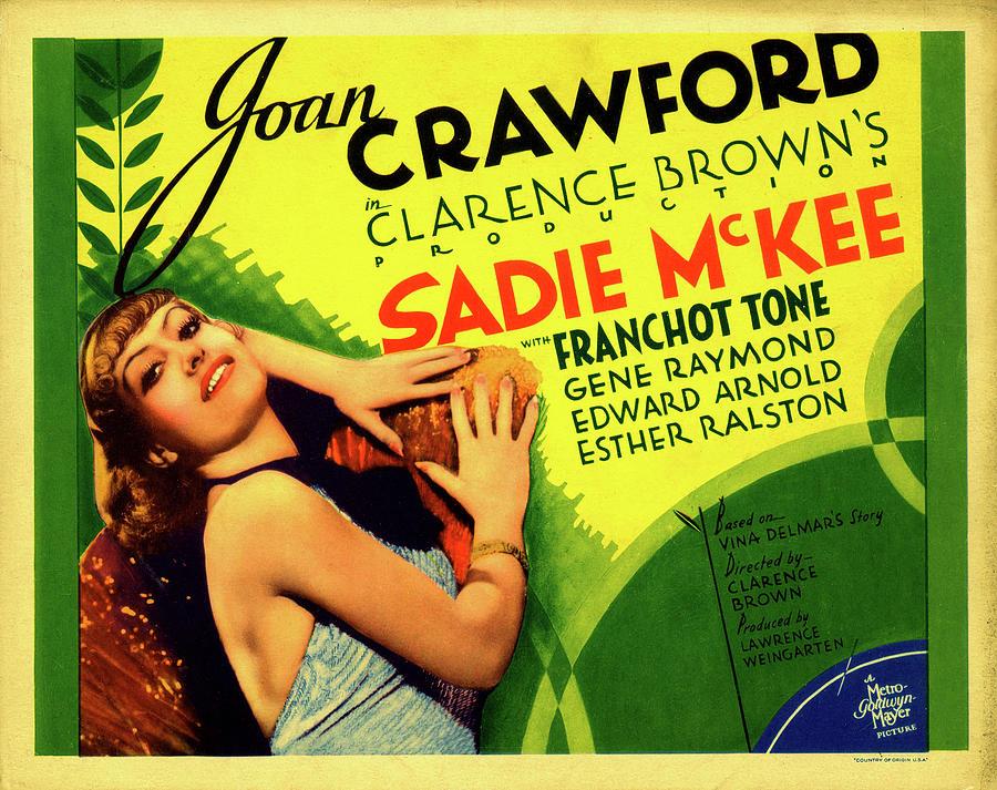 sadie Mckee With Joan Crawford, 1934 Mixed Media