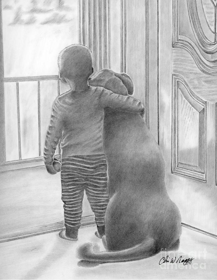 Safe Inside Drawing by Chris Naggy