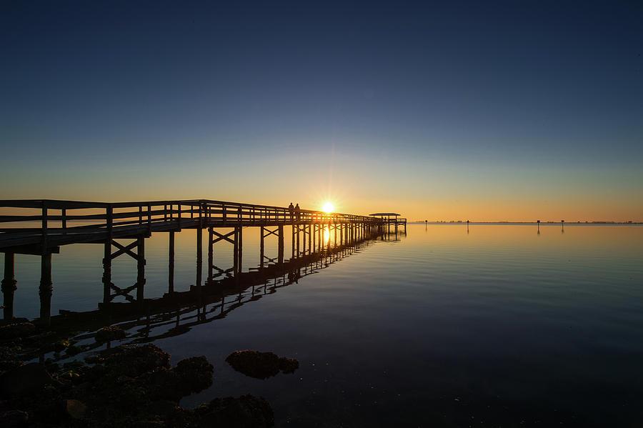Safety Harbor Pier Sunrise 2 Photograph