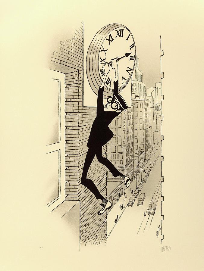 safety Last With Harold Lloyd, 1923 Mixed Media
