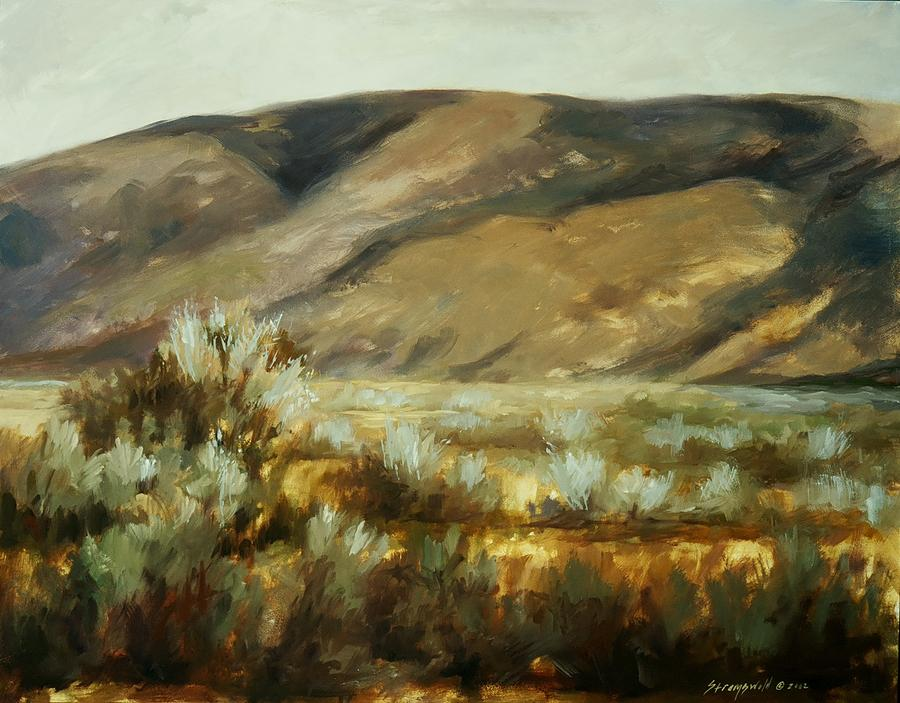 Landscape Mountains Painting - Sageland by Ruth Stromswold