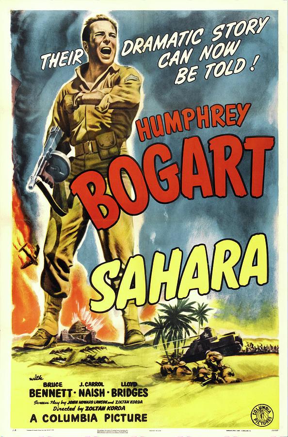 sahara With Humphrey Bogart, 1943 Mixed Media