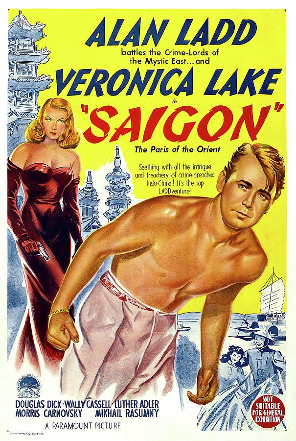 saigon, With Alan Ladd And Veronica Lake, 1948 Mixed Media