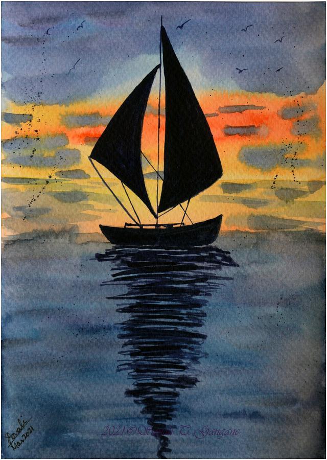 Sail Boat 5 Painting