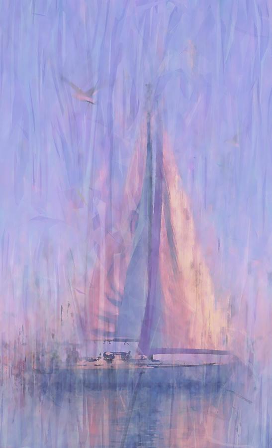 Sailboat at Dawn by Alex Mir