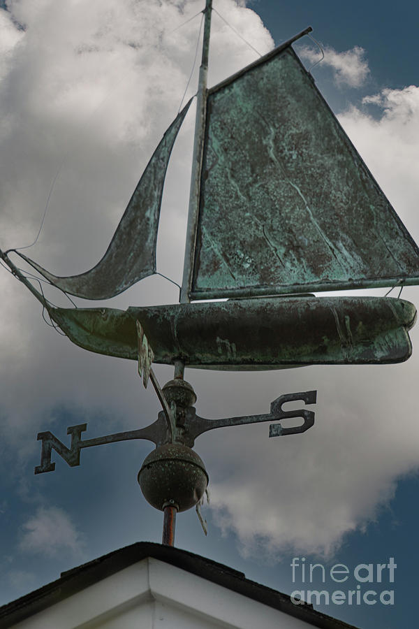 Sailboat Weather Vane - North South East West Photograph