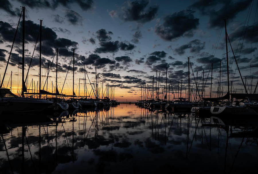Sailboats With Pretty Sky Photograph