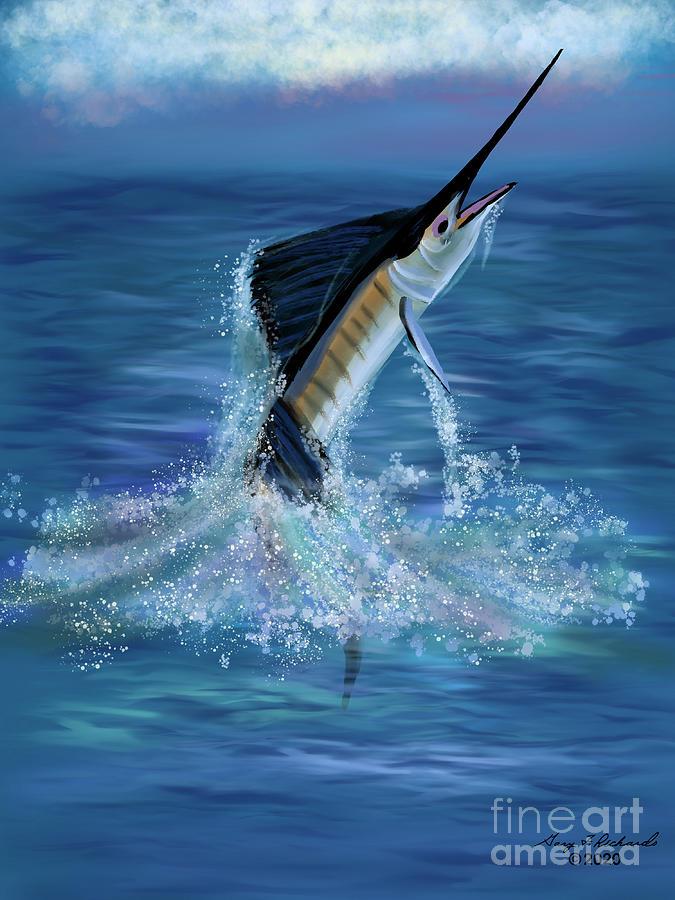 Sailfish Jump Digital Art