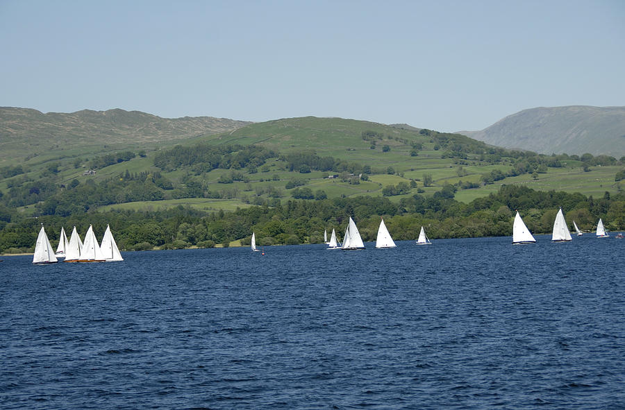 Sailing boats on Lake Windermere Photograph by Lyn Holly Coorg