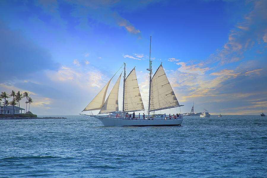 Sailing Fun In Key West Photograph