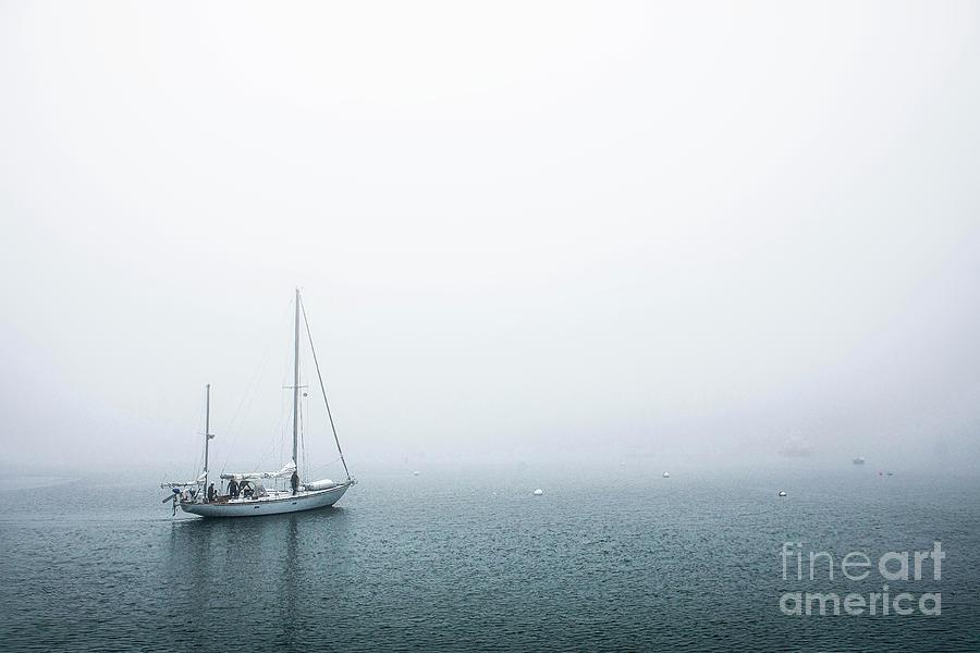 Sailing Into The Fog Photograph