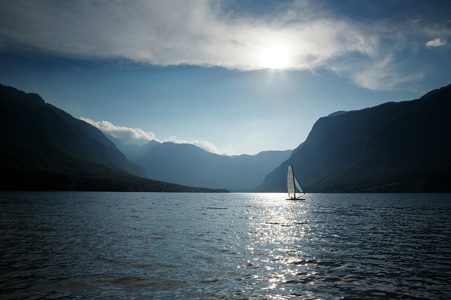 Sailing on Lake Bohinj by Ian Middleton