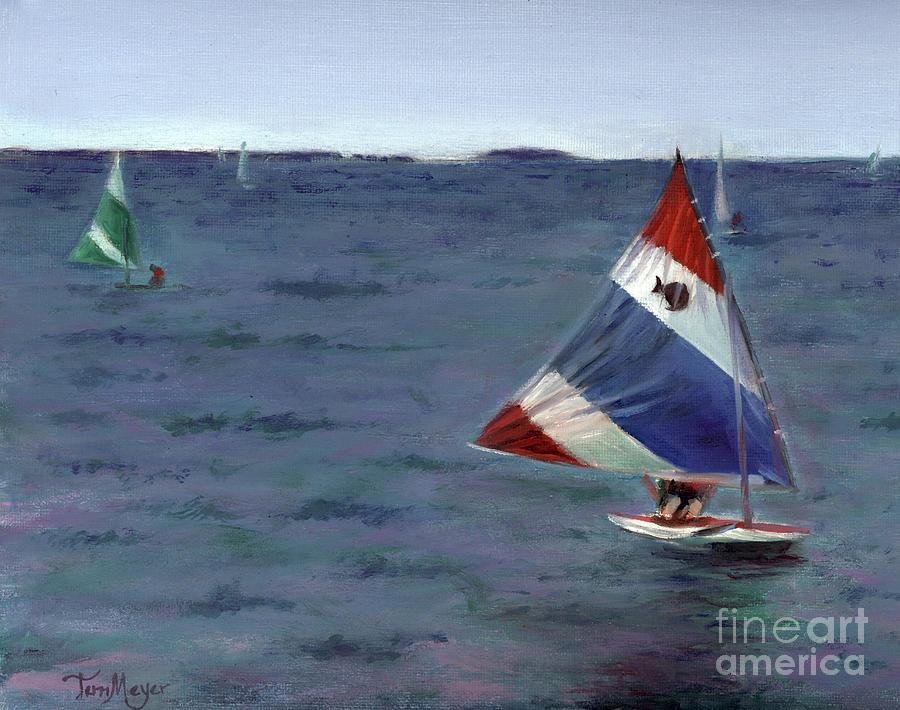 Sailing On Lake Erie Painting