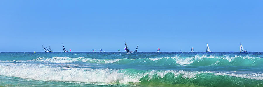 Sailing On The Pacific Photograph