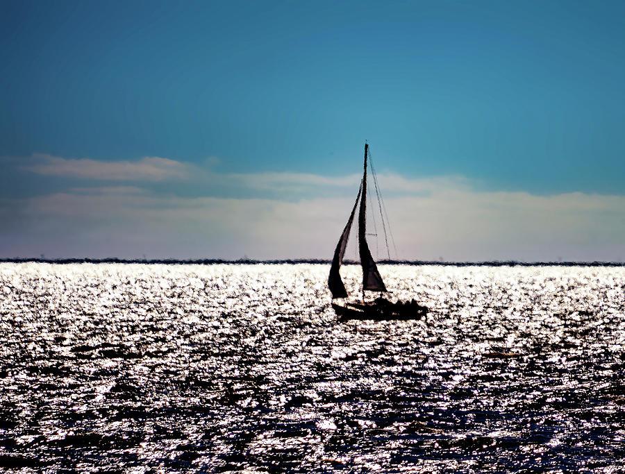 Sailing Sabine Lake Photograph