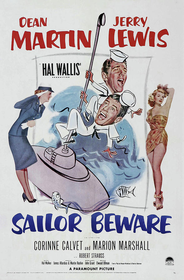 sailor Beware, With Dean Martin And Jerry Lewis, 1952 Mixed Media
