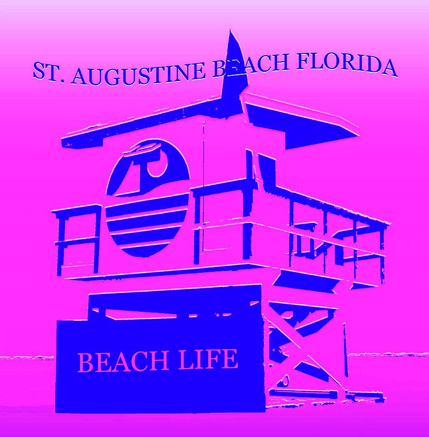 Saint Augustine Beach Florida Mixed Media