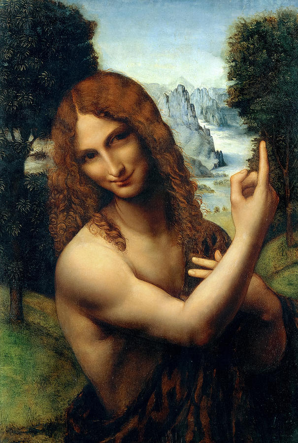 Salai Painting - Saint John The Baptist, 1520 by Salai