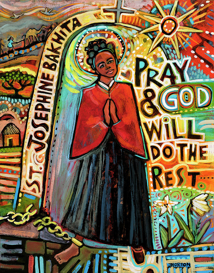 Saint Josephine Bakhita Painting