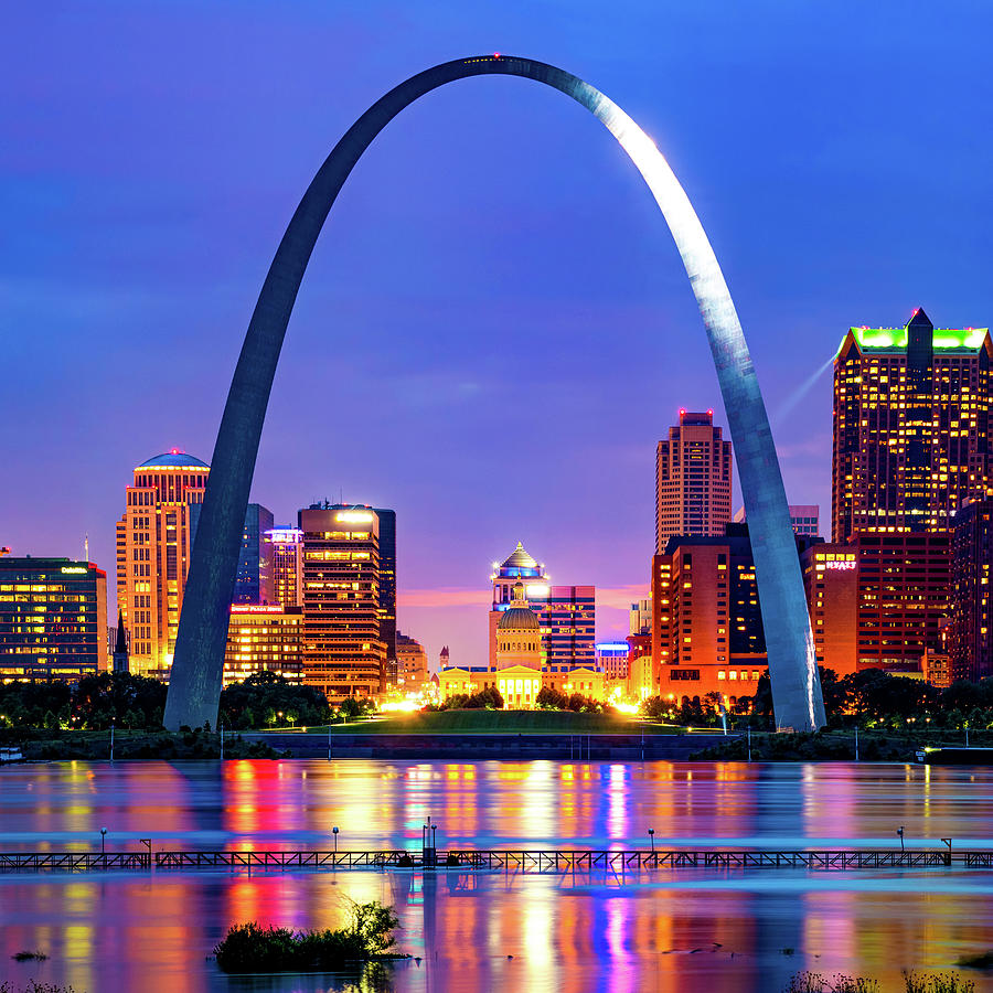 Saint Louis Skyline And The Iconic Gateway Arch Photograph