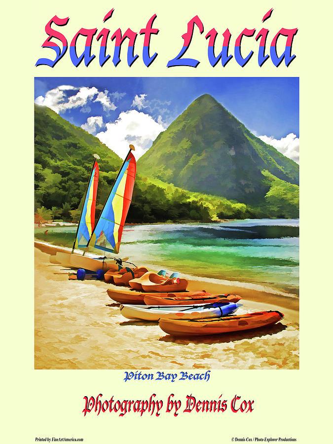 Saint Lucia Travel Poster Photograph