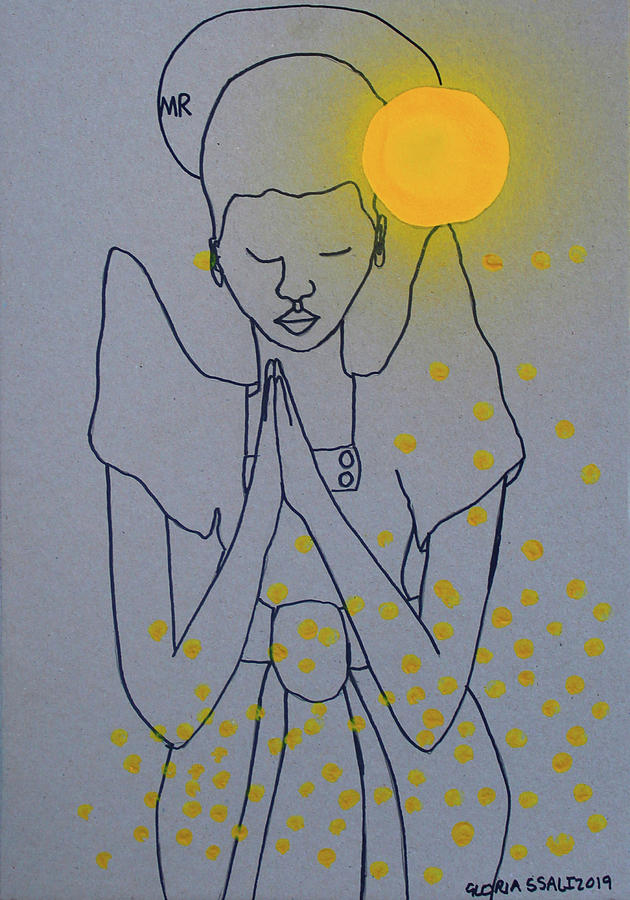 Saint Mary Mother of God Woman Clothed With The Sun  by Gloria Ssali