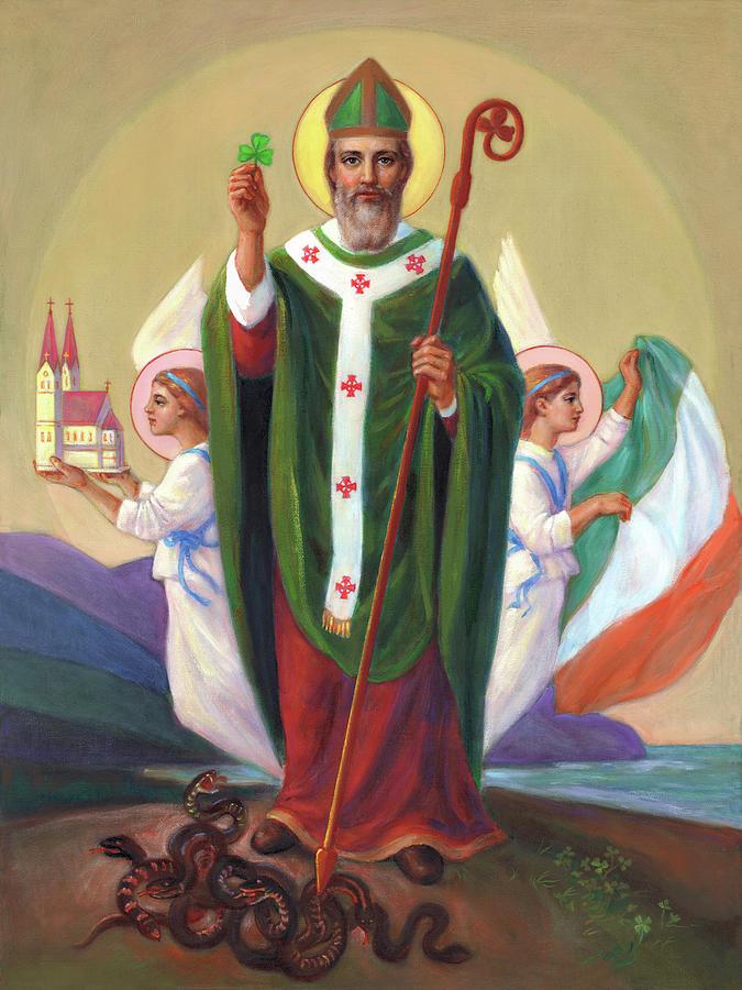 Saint Patrick The Enlightener Of Ireland Painting