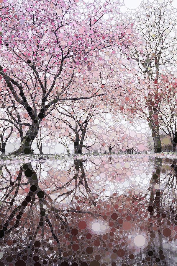 Sakura Spring Pink Mixed Media