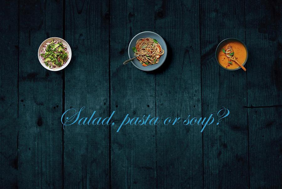 Salad Pasta Or Soup by Johanna Hurmerinta