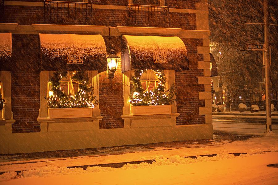 Salem Christmas Wreaths Salem MA Snowstorm Christmas by Toby McGuire