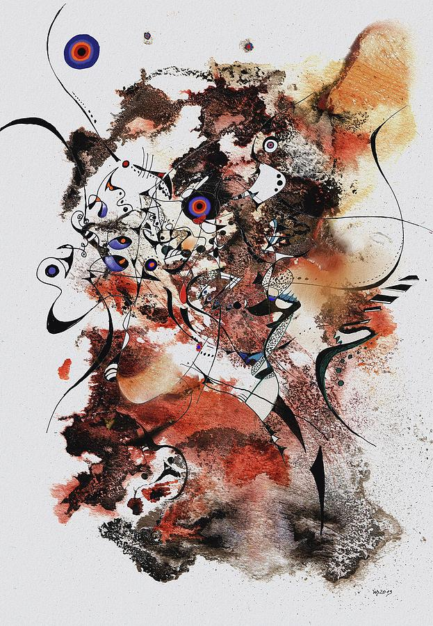 Abstract Ink Painting - Sallirimba Sussulai by Wolfgang Schweizer