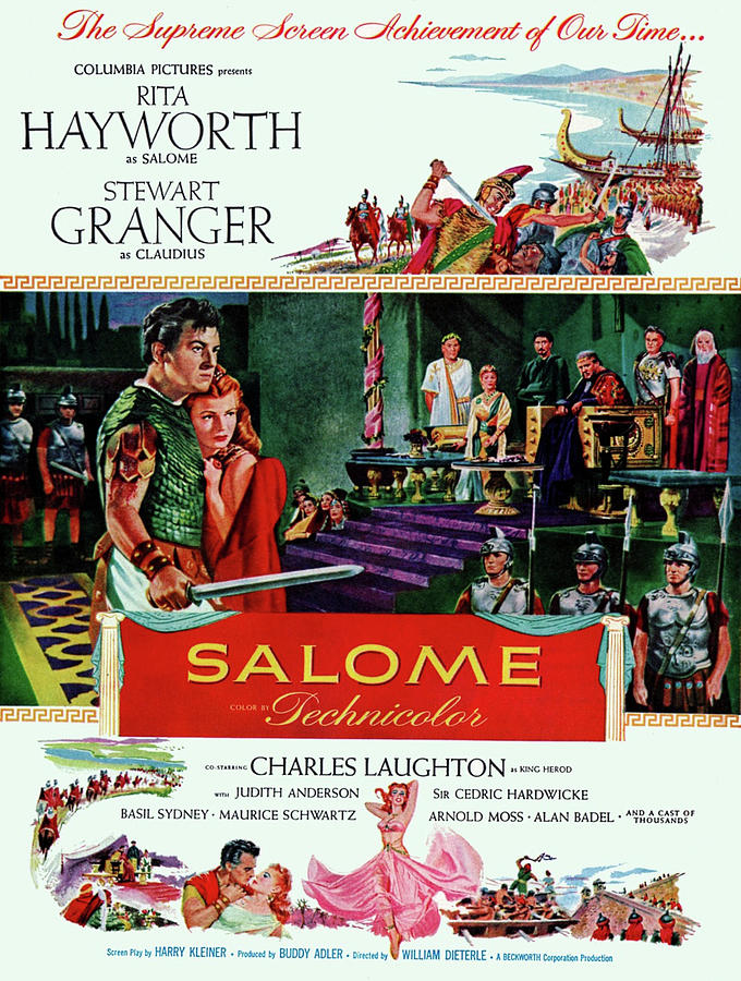 salome 3, With Rita Hayworth And Stewart Granger, 1953 Mixed Media