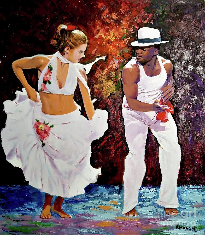 Dancing Painting - Salsa by Jose Manuel Abraham
