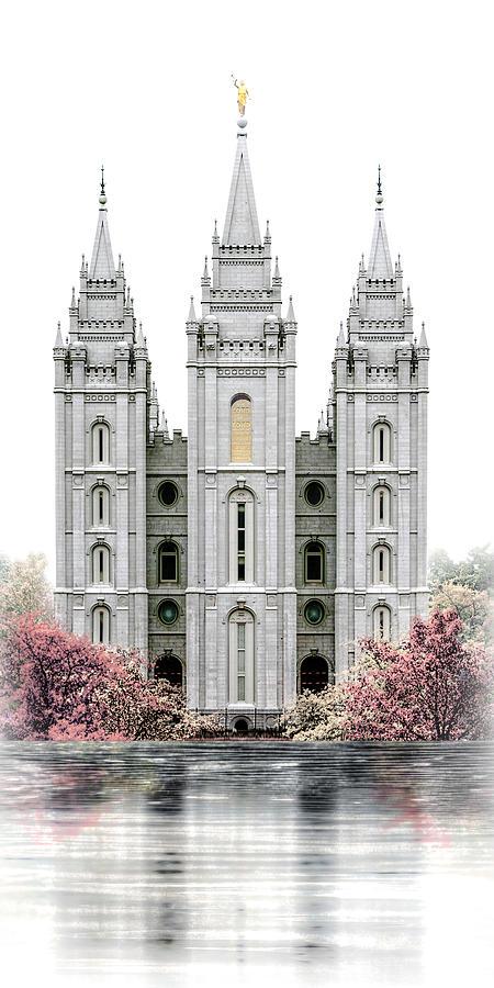 Salt Lake Painting - Salt Lake Temple - Celestial Series by Brent Borup