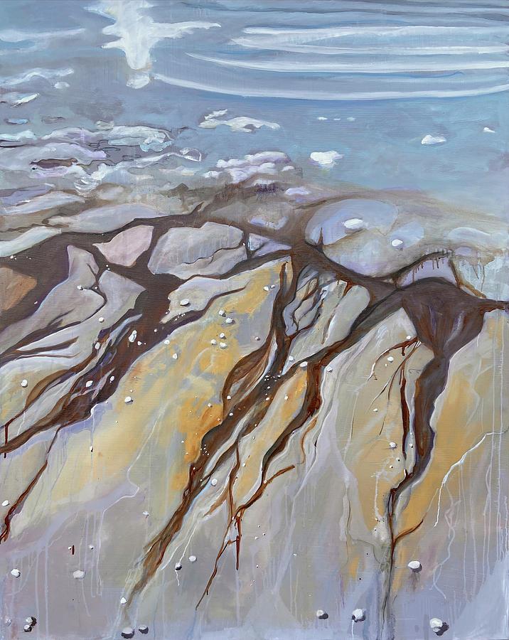 Surreal Painting - Saltwater Veins II  by Jodee Clifford