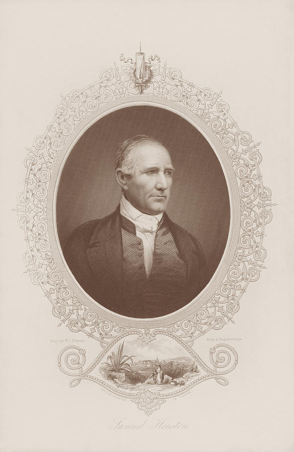Samuel Houston Engraved Portrait  by War Is Hell Store