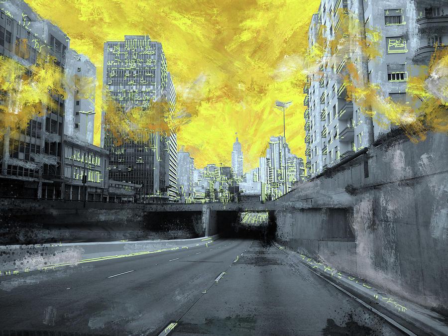 Collage Digital Art - Sampa View by Arlington Siqueira