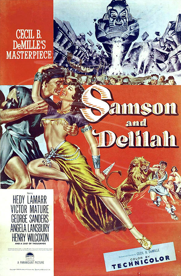 samson And Delilah 2, With Hedy Lamarr And Victor Mature, 1949 Mixed Media