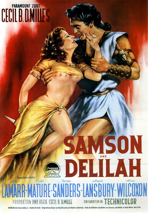 samson And Delilah 3, With Hedy Lamarr And Victor Mature, 1949 Mixed Media
